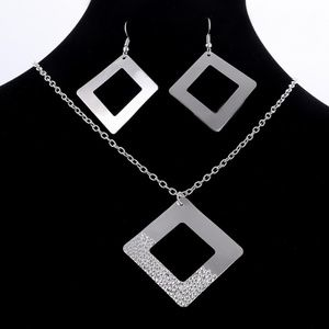 Jewelry Set Necklace and Earrings Silver Plated